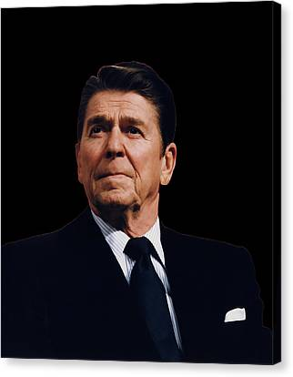 Founding Fathers Canvas Print - Ronald Reagan  1911 - 2004 by Daniel Hagerman