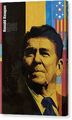 Ronald Reagan Canvas Print by Corporate Art Task Force