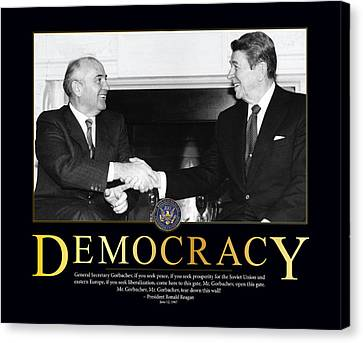 Ronald Reagan Democracy  Canvas Print by Retro Images Archive