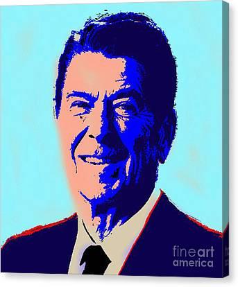 Ronald Reagan Canvas Print by Gerhardt Isringhaus