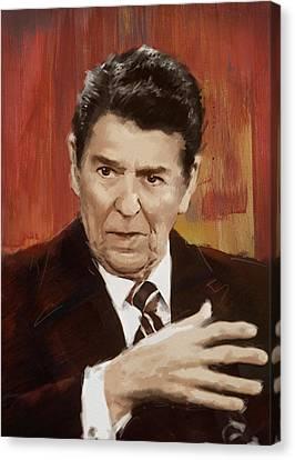 Ronald Reagan Portrait 2 Canvas Print by Corporate Art Task Force