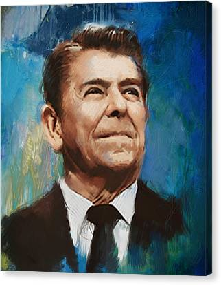 President Adams Canvas Print - Ronald Reagan Portrait 6 by Corporate Art Task Force
