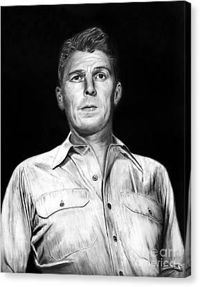 Ronald Regan Canvas Print by Peter Piatt