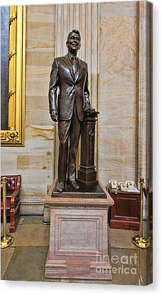 Ronald Regan -  U S Capitol Statuary Hall Canvas Print by Allen Beatty