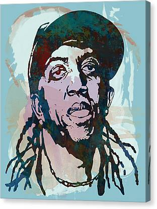 ronald slim williams Stylised Etching Pop Art Poster Canvas Print by Kim Wang