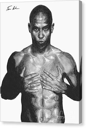 Canvas Print featuring the drawing Ronaldo by Tamir Barkan