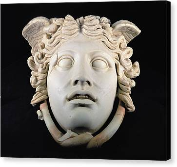 Rondanini Medusa, Copy Of A 5th Century Bc Greek Marble Original, Roman Plaster Canvas Print by .