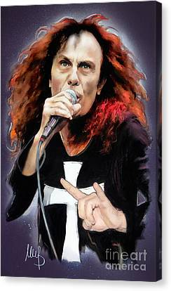 Ronnie James Dio Canvas Print by Melanie D