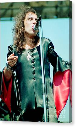 Ronnie James Dio Of Black Sabbath During 1980 Heaven And Hell Tour  Canvas Print by Daniel Larsen