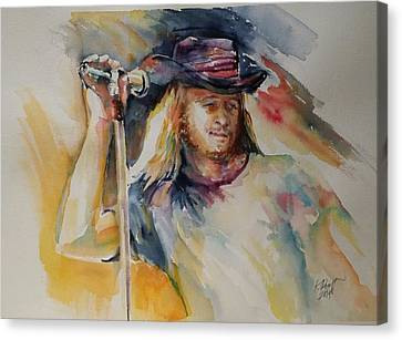 Ronnie Van Zant Canvas Print by Kirsten Rogoff