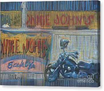 Canvas Print featuring the painting Ronnie's Bike by Donald Maier