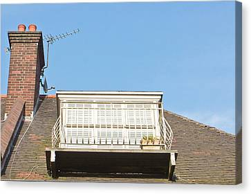 Roof Balcony Canvas Print by Tom Gowanlock