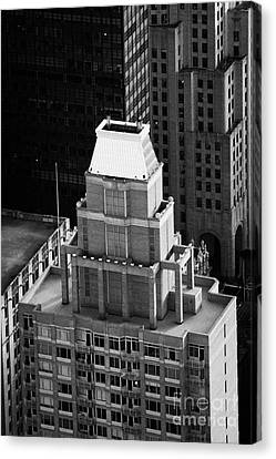 Roof Of The Belvedere Building New York City Canvas Print by Joe Fox