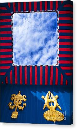 Roof Top With Opening Canvas Print by William Voon