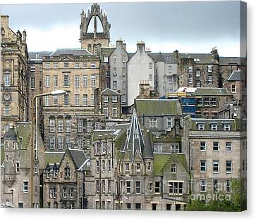 Roofs Of Edinburgh  Canvas Print by Suzanne Oesterling
