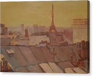 Roofs Of Paris Canvas Print by Julie Todd-Cundiff
