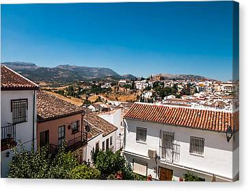 Spanish House Canvas Print - Roofs Of Ronda. Spain by Jenny Rainbow
