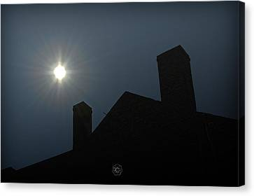 Rooftop Silhouette Canvas Print by Brian Archer