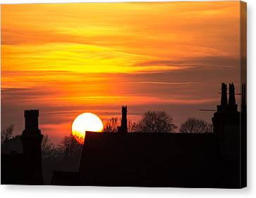 Canvas Print - Rooftop Sunset by Dawn OConnor