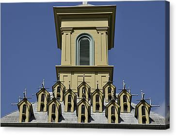 Rooftop Canvas Print by Trevor Varley