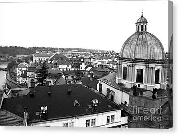 Rooftop View In Praha Canvas Print by John Rizzuto