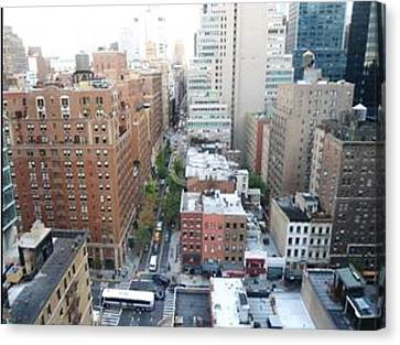 Rooftop View Canvas Print by Justin Lee Williams
