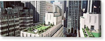 Rooftop View Of Rockefeller Center Canvas Print by Panoramic Images
