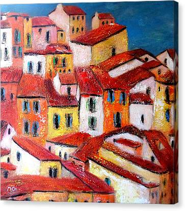 Rooftops Collioure Canvas Print