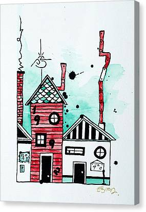 Rooftop Canvas Print - Rooftops by Emily Pinnell