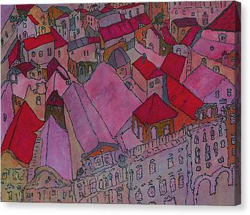 Architecture Canvas Print - Rooftops II  by Oscar Penalber