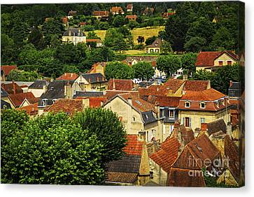 Rooftops In Sarlat Canvas Print