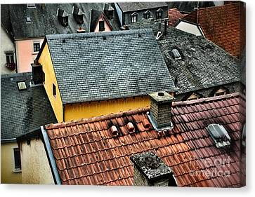 Canvas Print featuring the photograph Rooftops by Nick  Biemans