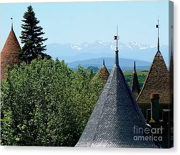 Rooftops Of Carcassonne Canvas Print by France  Art