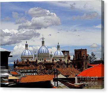Rooftops Of Cuenca Canvas Print by Al Bourassa