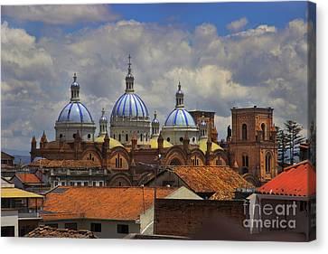 Rooftops Of Cuenca II Canvas Print by Al Bourassa
