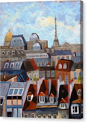 Rooftops Of Paris Canvas Print
