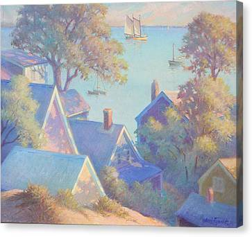 Rooftops Of Provincetown Harbor Canvas Print by Ernest Principato