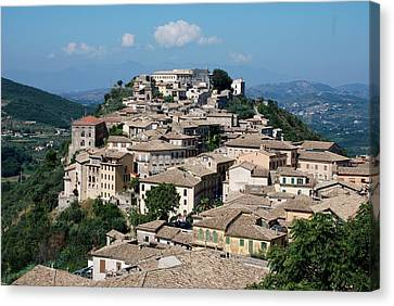 Rooftops Of The Italian City Canvas Print