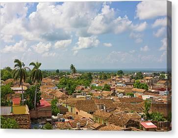 Rooftops, Trinidad, Unesco World Canvas Print by Keren Su