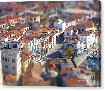 Canvas Print featuring the photograph Rooftops by Vicki Spindler