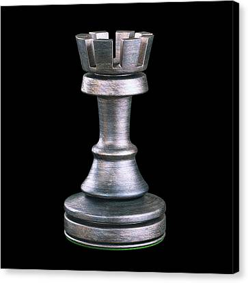Rook Chess Piece Canvas Print