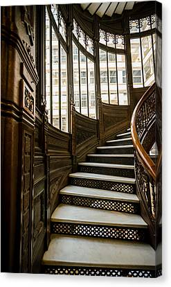 Rookery Building Up The Oriel Staircase Canvas Print