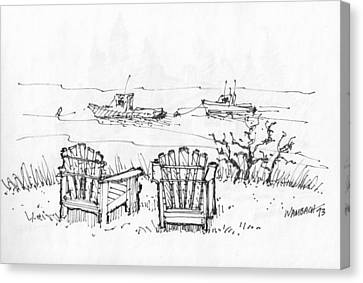 Room For Two Monhegan Island 1993 Canvas Print