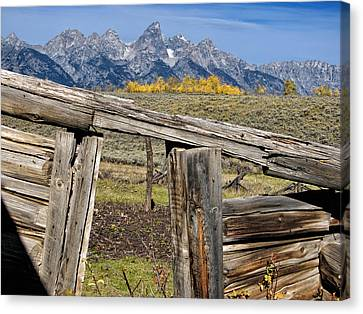Mountain Cabin Canvas Print - Room With A View by Kathleen Bishop