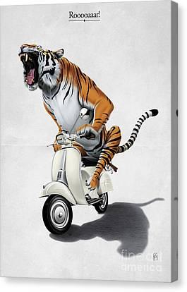 Rooooaaar Canvas Print by Rob Snow