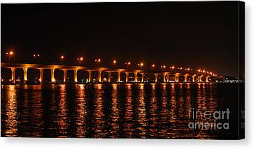 Canvas Print featuring the photograph Roosevelt Bridge Panorama by Olga Hamilton