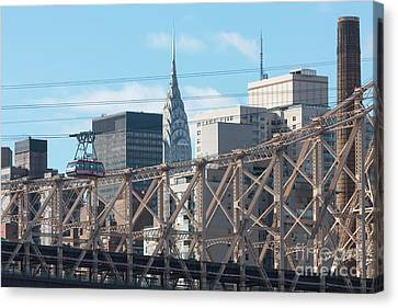 Roosevelt Island Tram And Manhattan Skyline I Canvas Print by Clarence Holmes