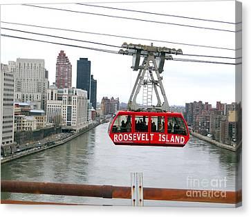 Roosevelt Island Tram Canvas Print by Ed Weidman