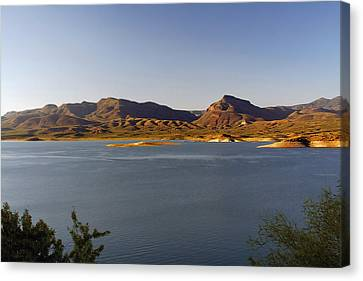 Salt Water Canvas Print - Roosevelt Lake Arizona - The American Southwest by Christine Till