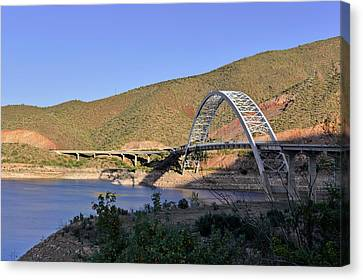 Roosevelt Lake Bridge Arizona Canvas Print by Christine Till
